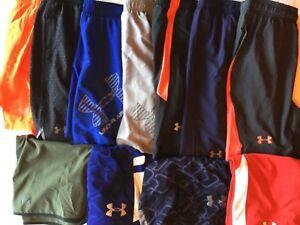 Under Armour Running Basketball Training Shorts Men New Tags Orange Red Black