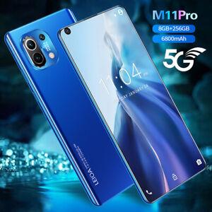 "M11 Pro 7.3"" Smart phone Android 10-Core 6800mah 8GB+256GB 5G New 2021"