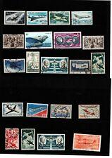 FRANKRIJK 20 luchtvaart postzegels van verschillende jaren, gediend