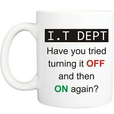 IT DEPT COMPUTER MUG funny novelty tea coffee gift womens mens office ideas xmas