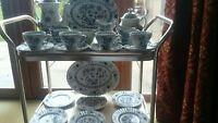 Rare Vint@Look@ J&G Meakin Nordic Blue Afternoon Tea Coffee Set VGC