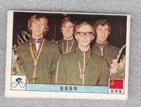 Sticker cycling USSR team Olympic games Montreal 1976 Panini Decje Novine Yug