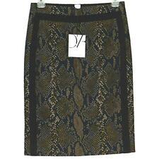 New Diane Von Furstenberg DVF Skirt Sz 2 Career Stretch Python Snake High Waist