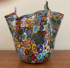 Vintage Murano Handkerchief Vase Murrina Millefiori