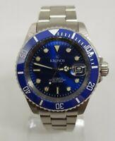 Reloj  KRONOS SPORT Q 200MTS AUTOMATICO AZUL 6774-bl (1 año de garantia)