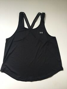 Under Armour Women's Strappy Mesh Tank Top Black Read