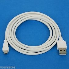 2M 200cm 6ft LONG Fast Charger ONLY Micro USB Cable WHITE 4 Android phone tablet