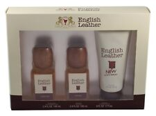 ENGLISH LEATHER BYDANA 3 PCES SET 3.4 EDT OZ SPLASH +3.4 OZ A/S+6.0 B/W FOR MEN