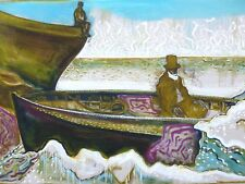 Billy Childish - Man in boat   SIGNED NUMBERED LIMITED EDITION ART PRINT 10/200