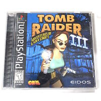 Tomb Raider III 3 Black Label PS1 Sony PlayStation Complete CIB Tested + Working