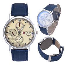 Ladies - Men`s Fashion Silver Quartz White Faced Blue Band Wrist Watch.(Aussie)