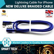 IPhone Chargeur L en Forme de Tressé Lightning Câble iPhone 5 5 S 6 6 S 7 8 X Bleu