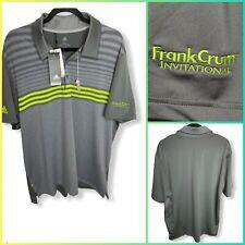Adidas Men's Xl Polo Golf Shirt Ultimate 365 Upf50 ⛳�Frank Crum Invitational New