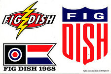 Fig Dish When Shove Goes Back To Push Rare promo die-cut sticker sheet '97