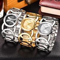 Fashion Women's Geneva Watch Stainless Steel Band Analog Quartz Wrist Watches