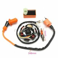 Moped Magneto Stator Racing Ignition Coil CDI Spark Plug GY6 49cc 50cc Scooter