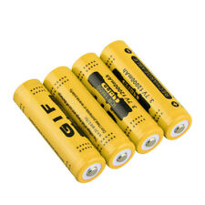 4pcs 3.7V 18650 12000mah Li-ion Rechargeable Battery For LED Flashlight Torch LS