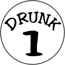 Drunk 1 # 10 - 8 x 10 Tee Shirt Iron On Transfer