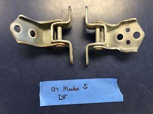 06-13 Mazda 5 Mazda5 3 RX-8 MX-5 Miata CX-7 Driver Front Upper Lower Door Hinge