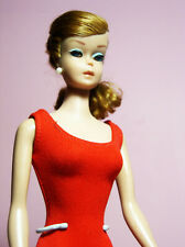 Vintage Beautiful Barbie Swirl Ponytail Model #850 Titian Hair OSS Red Mules Exc