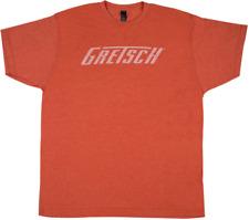 Gretsch Logo Tee Shirt Heathered Orange Large