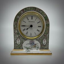 WEDGWOOD HUMMING BIRDS MANTLE CLOCK.
