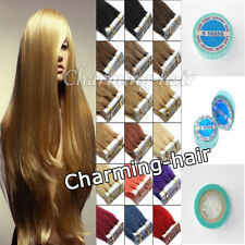 """7A Real Remy Human Hair Extensions Seamless Tape In Skin Weft 16""""18"""" 20"""" 22"""" 24"""""""