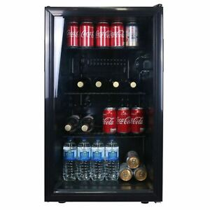 SIA 118L Under Counter Drinks Fridge, Beer And Wine Cooler With Glass Door