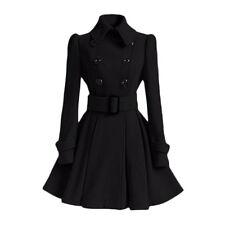 Women Coat Jackets Long Sleeve Cotton elegant Winter Windbreaker Dress Overcoat