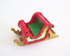 PLAYMOBIL (N2108) NOEL - Petit Traineau Rouge & Vert du Père Noel