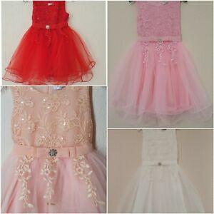 Mädchen Festkleid Festlich Hochzeit Geburtstag Partykleid Kinder Kleider