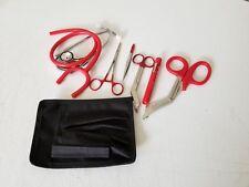 RED Paramedic Set - Diagnostic EMT Nursing EMS Emergency Dual Head  Stethoscope