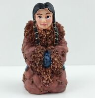 Eskimo Kneeling Woman MARY Christmas Nativity Figurine Carved Resin WMG 2006