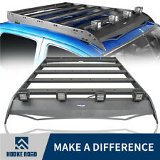 Hooke Roof Racks Baggage Luggage Carrier w/4x Lights For Toyota Tacoma 05-19 4dr