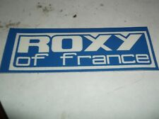 1990s roxy of france racing sticker from  1980s