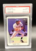 1990 LEAF SAMMY SOSA ROOKIE WHITE SOX CARD #220 PSA 8 NM-MT BENEFITS CHARITY❤️