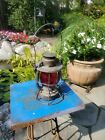 Delaware Lackawana Dietz Vintage Kerosene Lantern, ('40's-50's),Red Globe