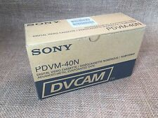 Box of 8 New Sony PDVM-40N DVCAM Digital Video Cassette Tapes