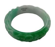 VERY FINE RARE NATURAL GREEN WHITE JADEITE JADE BRACELET BANGLE 58MM  #0320