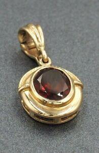 Rhodolite Garnet Womens Enhancer Pendant 9ct Yellow Gold Fine Jewellery