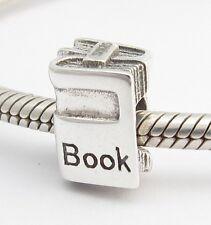 STUDENT STUDY BOOKS CHARM Bead Sterling Silver.925 For European Bracelets 454