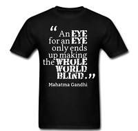 Gandhi eye for eye world earth blind quote deep meaning realization T-shirt