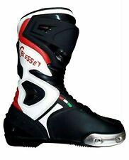Stivali Sivaletto Racing Moto da Pista Con Protezioni Antitorsione Pelle Couio