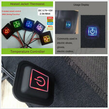Car SUV 3.7-12V 5 Modes LED Temperature Controller Switch For Heated Vest Gloves