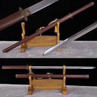 Full Tang Blade Chinese Sword Hand Forge High Carbon Steel Katana Alloy Fittings
