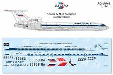 Revaro Decal Tupolev Tu-154M Aeroflot Classic for Zvezda model kit 1/144