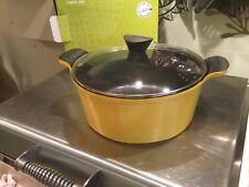 Yellow 28cm Grunwerg German design casserole Dutch oven induction glass lid BNIB