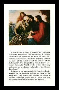 DR JIM STAMPS US SAINT PETER CHRIST JESUIT MISSIONS NEW YORK POSTCARD 1960