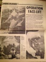 L1-8 Ephemera 1963 Article Cleaning Mount Rushmore Presidents USA 1 Page
