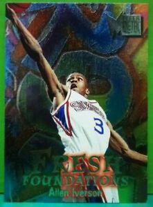 Allen Iverson rookie subset card Fresh Foundations 1996-97 Fleer Metal #236
